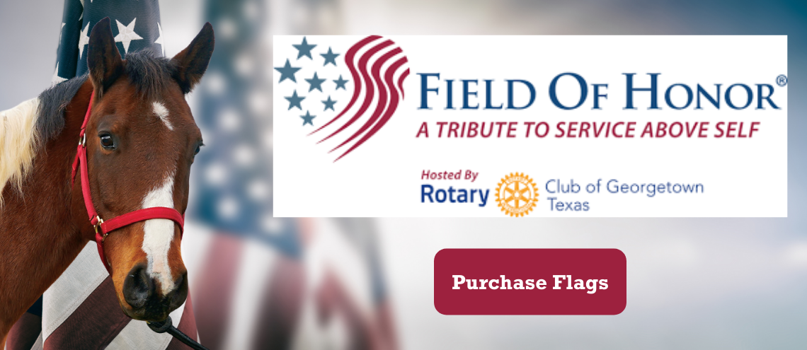 Purchase your Field of Honor flag and a portion of the proceeds will benefit ROCK, Ride On Center for Kids