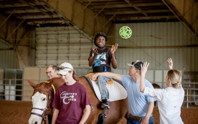 TAMUS Courtney Cares Therapeutic Riding Program